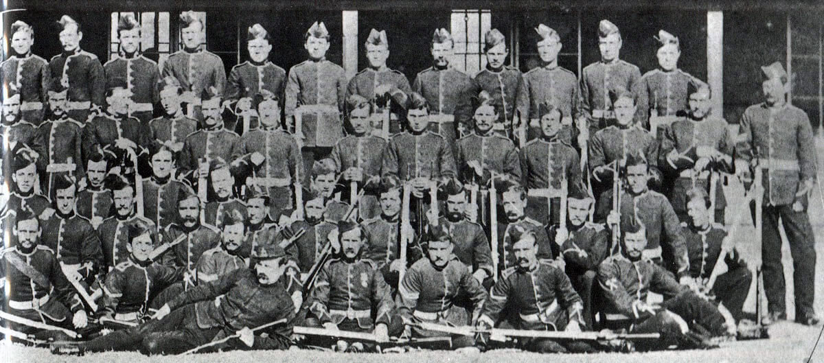 H Company, 1st/24th Regiment, annihilated at the Battle of Isandlwana on 22nd January 1879 in the Zulu War