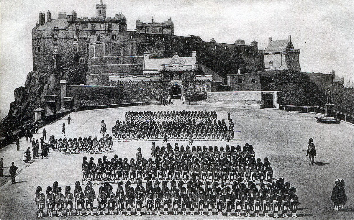 Queen's Own Cameron Highlanders on the Edinburgh Castle Esplanade: Battle of Atbara on 8th April 1898 in the Sudanese War
