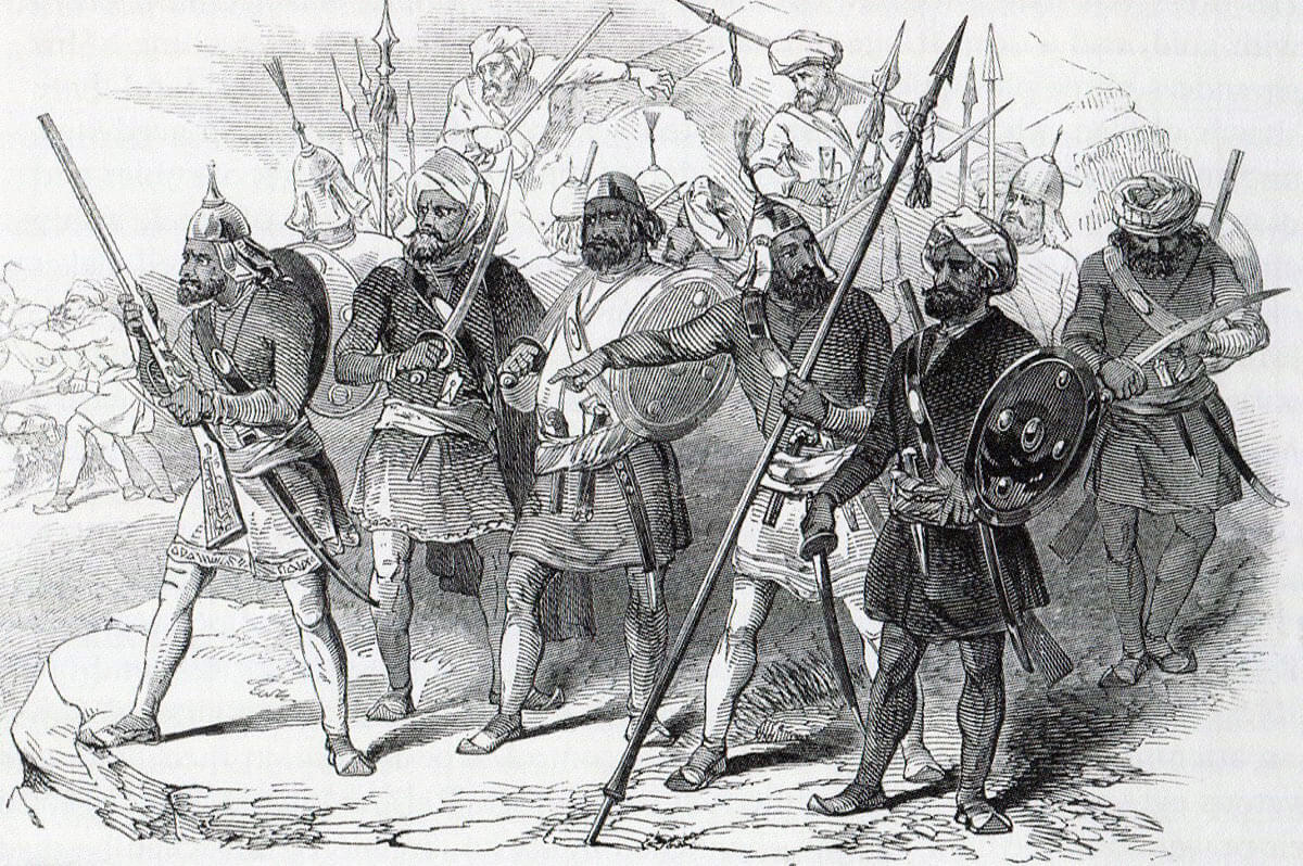 Sikh infantry: Battle of Goojerat on 21st February 1849 during the Second Sikh War