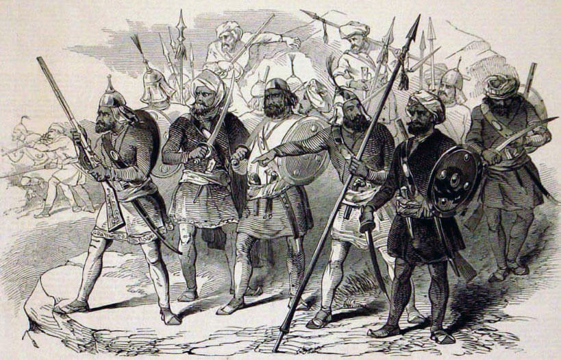 Sikh soldiers: Battle of Aliwal on 28th January 1846 in the First Sikh War