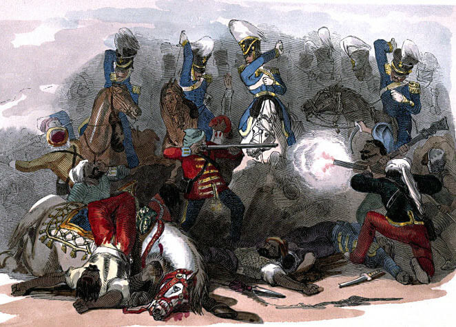 3rd King's Light Dragoons at the Battle of Moodkee on 18th December 1845 during the First Sikh War