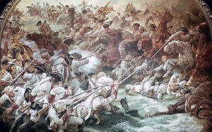 Charge of the Bayreuth Dragoons at the Battle of Hohenfriedberg 4th June 1745 in the Second Silesian War