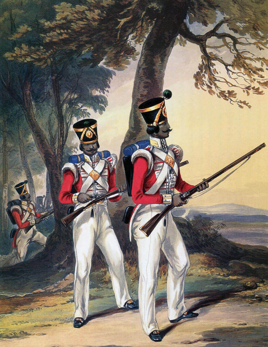 Light Company of a Bengal Native Infantry Regiment: Battle of Sobraon on 10th February 1846 during the First Sikh War
