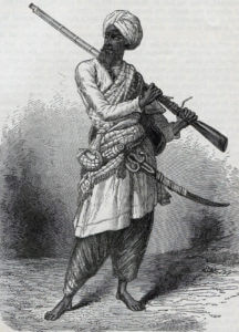 Sikh soldier: Battle of Ramnagar on 22nd November 1848 during the Second Sikh War