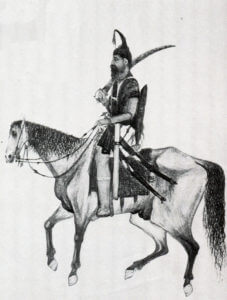 Mounted Sikh warrior: Battle of Goojerat on 21st February 1849 during the Second Sikh War