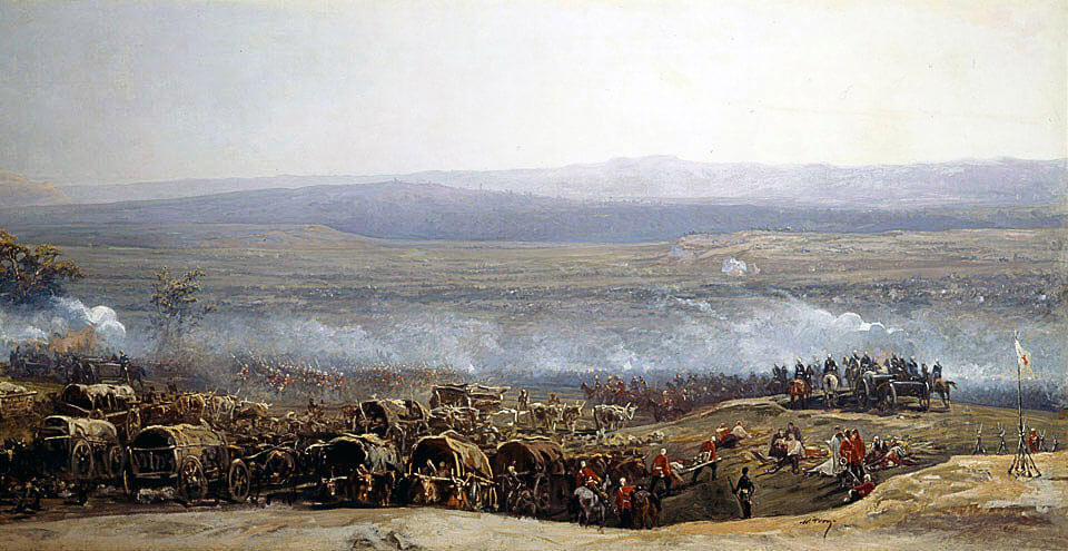 Battle of Ulundi on 4th July 1879 in the Zulu War