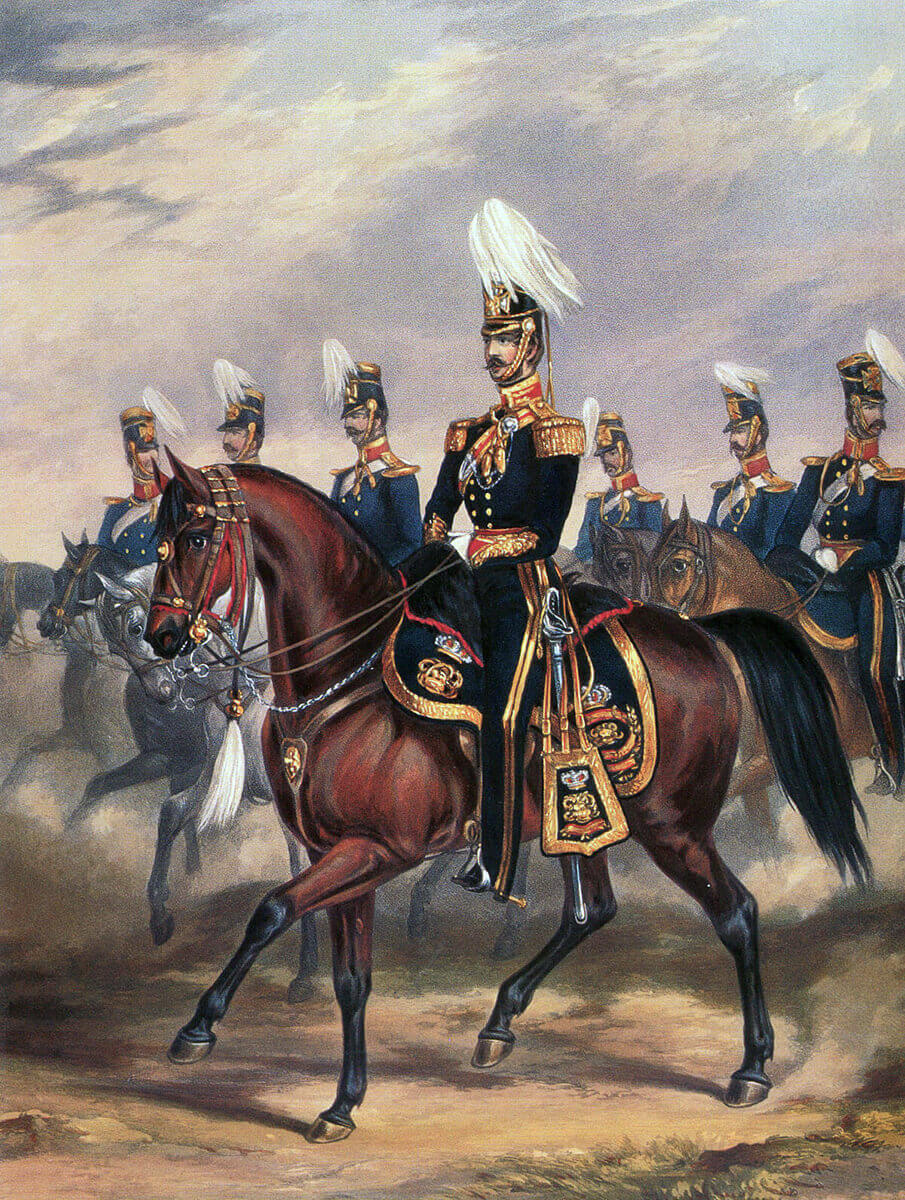 14th King's Light Dragoons: Battle of Ramnagar on 22nd November 1848 during the Second Sikh War: print by Ackermann