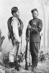 Gurkha soldiers: Battle of Kabul December 1879 in the Second Afghan War