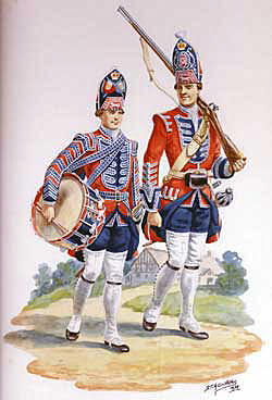 Drummer and Grenadier Barrell's King's Own Royal Regiment: Battle of Culloden 16th April 1746 in the Jacobite Rebellion