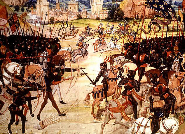 Battle of Poitiers on 19th September 1356 in the Hundred Years