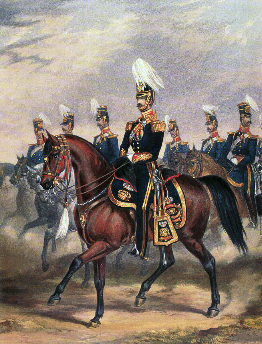 HM 14th Light Dragoons: Battle of Chillianwallah on 13th January 1849 during the Second Sikh War: print by Ackermann