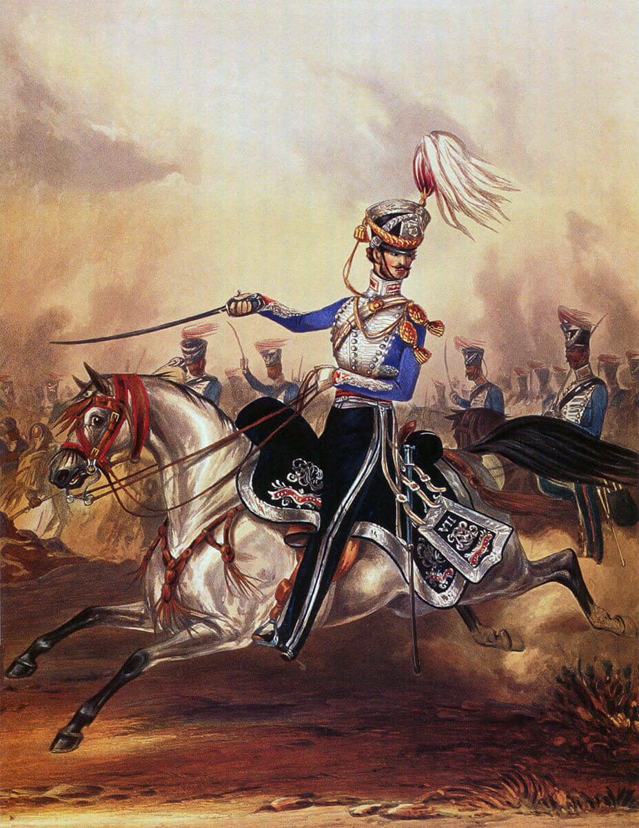 Bengal Light Cavalry: Battle of Moodkee on 18th December 1845 during the First Sikh War: picture by Ackermann