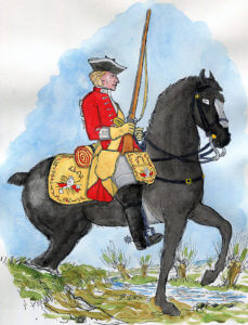 14th Dragoons: Battle of Falkirk 17th January 1746 in the Jacobite Rebellion: Mackenzie after Representation of Cloathing