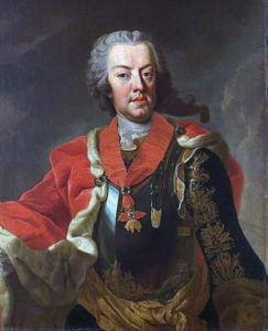 Prince Charles of Lorraine, commander of the Austrian/Saxon army at the Battle of Hohenfriedberg 4th June 1745 in the Second Silesian War