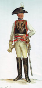 Prussian Kürassier-Regiment von Buddenbrock No 1: Battle of Chotusitz 17th May 1742 in the First Silesian War: picture by Adolph Menzel