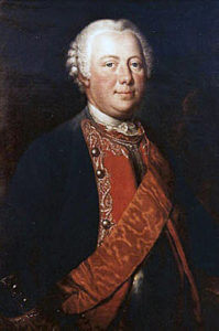 General Karl von Winterfeld, Prussian commander killed at the Battle of Prague 6th May 1757 in the Seven Years War
