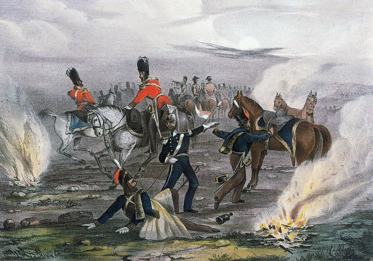Dawn Alarm in the Cavalry Camp: Battle of Balaclava on 25th October 1854 in the Crimean War