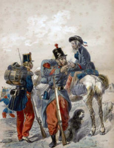French troops: Battle of Inkerman on 5th November 1854 in the Crimean War