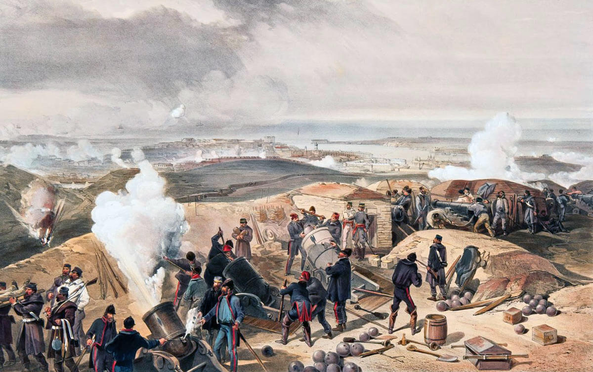 Hot Day in the British Batteries: Siege of Sevastopol September 1854 to September 1855: picture by William Simpson