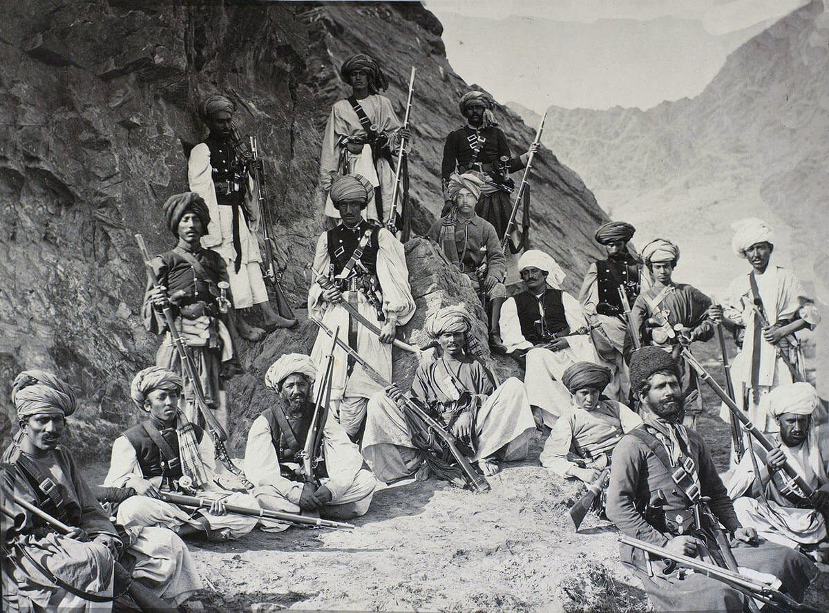 Afghan tribesmen: Battle of Kabul December 1879 in the Second Afghan War