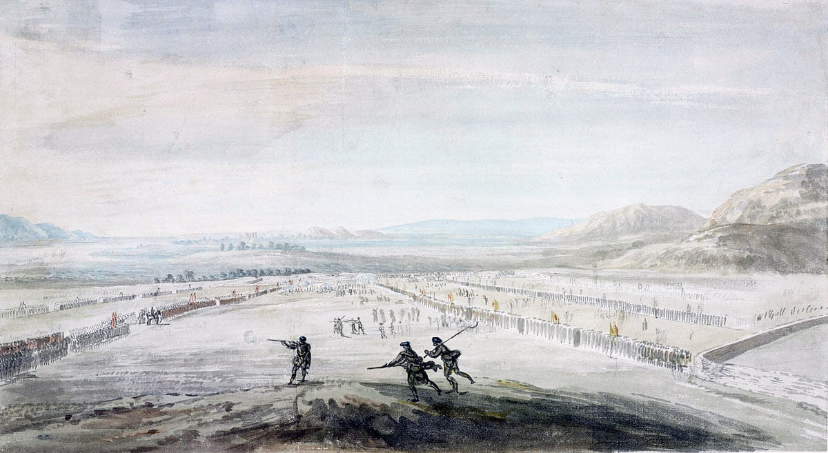 Battle of Culloden 16th April 1746 in the Jacobite Rebellion: picture by Thomas Sandby