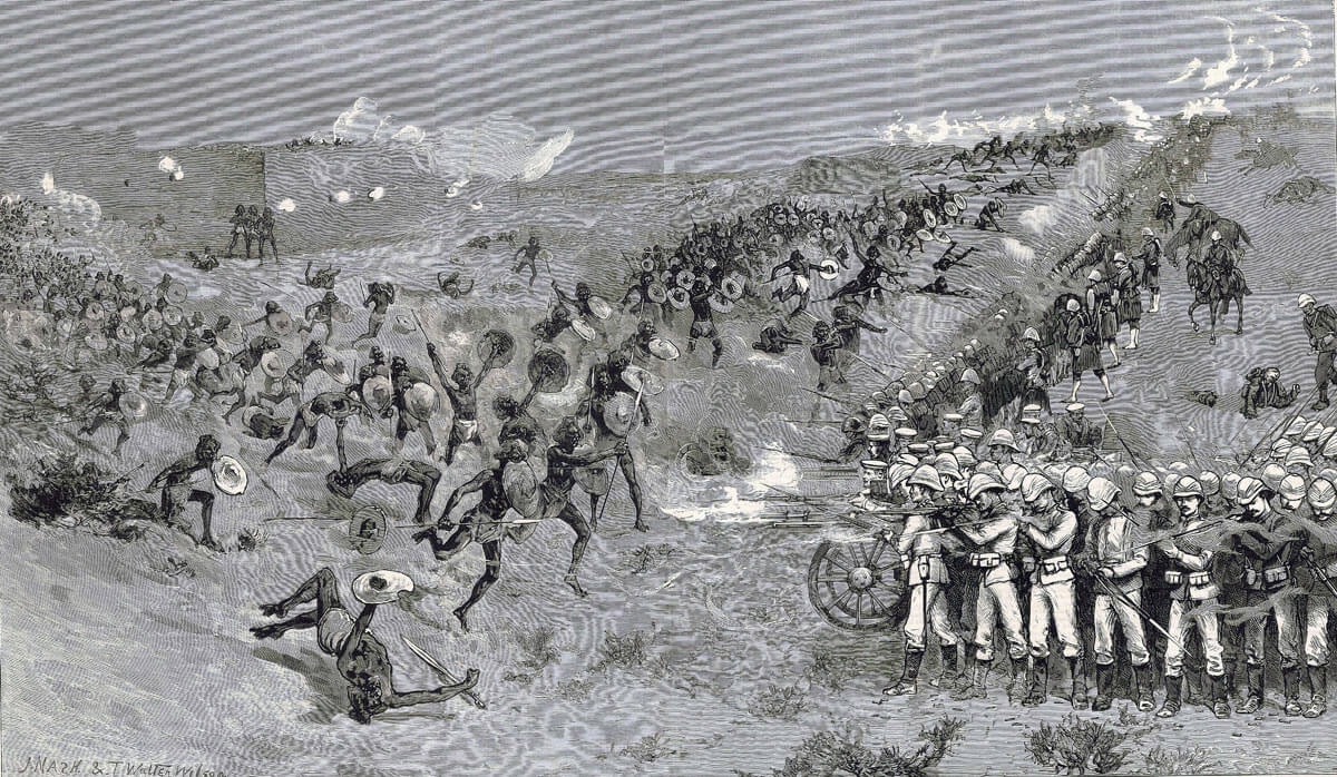 British Square at the Battle of El Teb on 29th February 1884 in the Sudanese War: print by Grahams