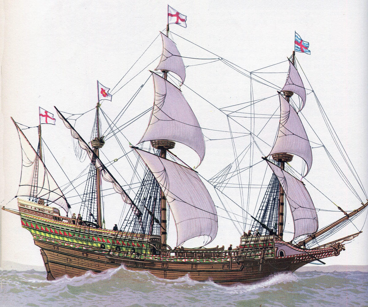 New English 'race' ship that the Spanish could not catch to board and whose cannon did so much damage to the Armada's ships: Spanish Armada June to September 1588
