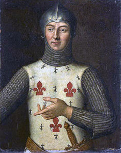 Hugues Quiéret French Admiral at the Battle of Sluys on 24th June 1340 in the Hundred Years War