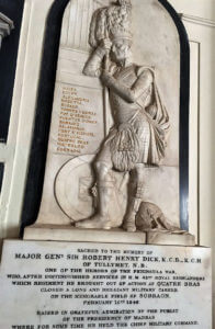 Memorial to General Sir Robert Dick in Madras Cathedral: Battle of Sobraon on 10th February 1846 during the First Sikh War