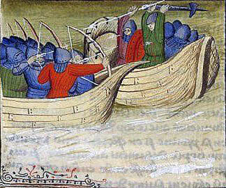 Battle of Sluys on 24th June 1340 in the Hundred Years War