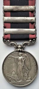 Sutlej Campaign, 1845-6 Medal recording the Battle of Moodkee on 18th December 1845 during the First Sikh War: reverse side