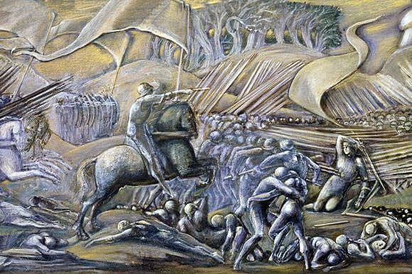 Battle of Flodden on 9th September 1513 by Sir Edward Burne-Jones