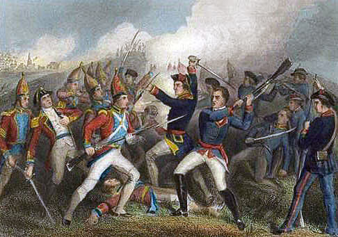 Battle of Bennington on 16th August 1777 in the American Revolutionary War