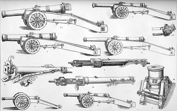 Types of cannon made in the 16th Century: Battle of Flodden 9th September 1513