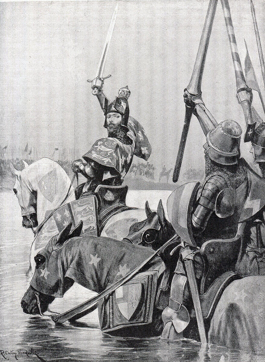 Battle of Creçy on 26th August 1346 in the Hundred Years War