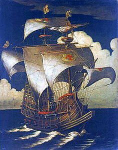Portuguese galleon: Spanish Armada June to September 1588