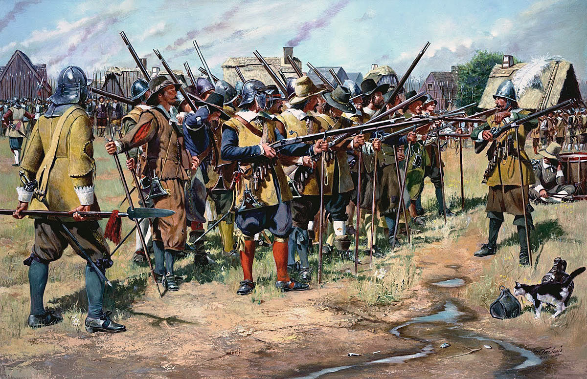 Musketeers of the period of the English Civil War: Battle of Stratton 16th May 1643