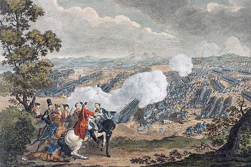 Battle of Minden 1st August 1759 in the Seven Years War