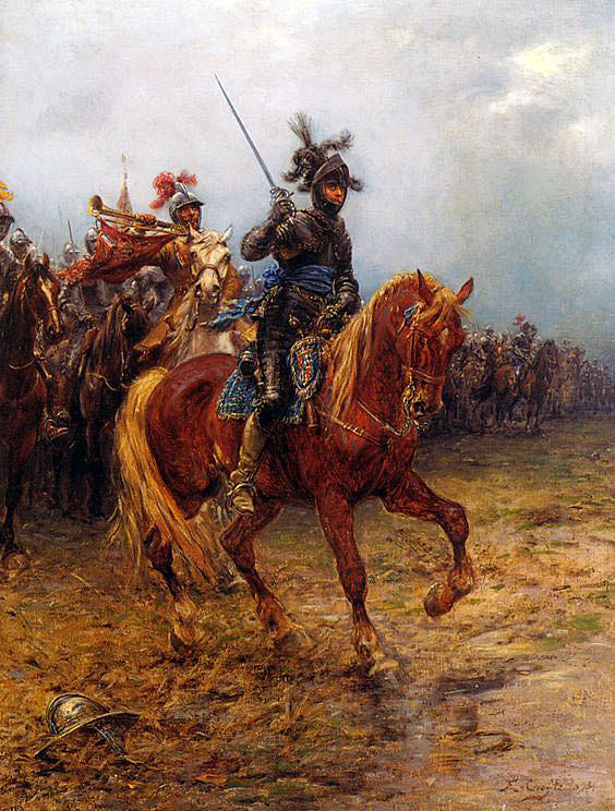Prince Rupert Royalist Commander at the Battle of Chalgrove 18th June 1643 in the English Civil War: picture by Ernest Crofts