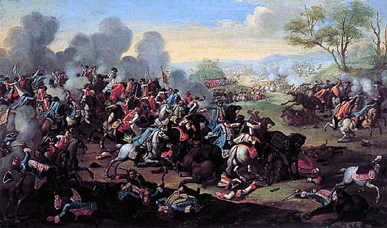 Battle of Kolin on 18th June 1757 in the Seven Year War