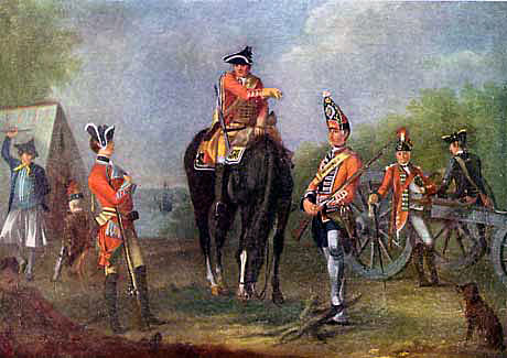 British troops: Battle of Vellinghausen on 15th July 1761 in the Seven Years War
