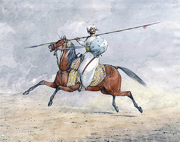 Mahratta horseman: Battle of Arni on 3rd December 1751 in the Anglo-French Wars in India (Second Carnatic War)