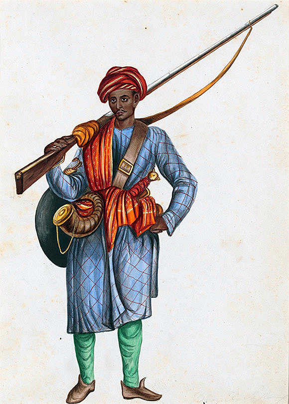 Mughal Infantryman: Battle of Kaveripauk on 23rd February 1752 during the Anglo-French Wars in India (Second Carnatic War)