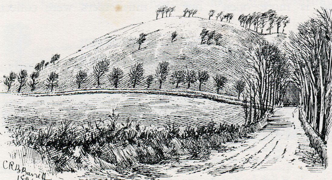 Tog Hill: the Battle of Lansdown Hill on 5th July 1643 during the English Civil War: drawing by C.R.B. Barrett