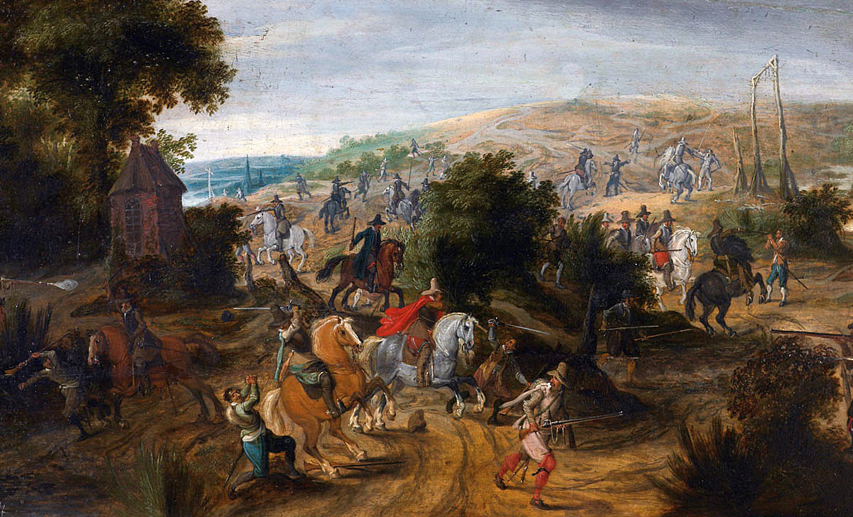 Battle at the time of the English Civil War:  Battle of Adwalton Moor 30th June 1643 during the English Civil War