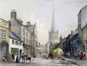 Wakefield Northgate: scene of the Parliamentary attack at the Battle of Wakefield 20th May 1643 in the English Civil War
