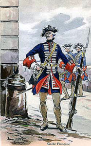 Garde Française: Battle of Dettingen fought on 16th June 1743 in the War of the Austrian Succession