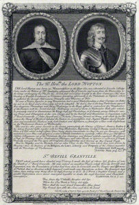 Sir Ralph Hopton and Sir Bevil Grenville: Battle of Lansdown Hill on 5th July 1643 in The English Civil War: post-war engraving by George Vertue
