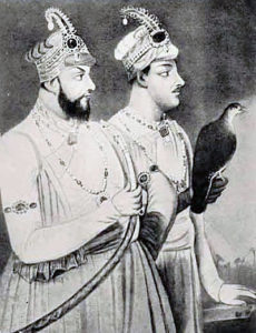 Mir Jafar Khan (left) and his son Mir Miran: Battle of Plassey on 23rd June 1757 in the Anglo-French Wars in India