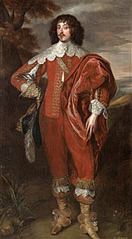 William Villiers, 2nd Viscount Grandison, mortally wounded at the Storming of Bristol on 29th July 1643: picture after Anthony van Dyck